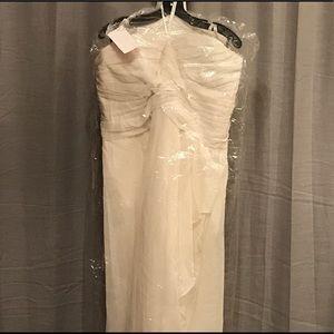 Davids bridal ivory wedding/bridesmaid dress 22
